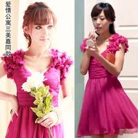 3 slit neckline wedding beauty jiada had dress deep V-neck 2013 racerback dress