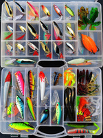 Free shipping HOT SALE! 118pcs/set.Fishing lure set Fishing Baits Lures fishing tackle set hard bait,soft lure baits