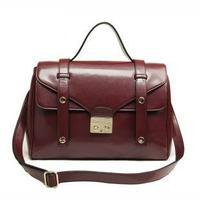 2013 TMC Women Retro Wine Red Messenger Bag Handbags Ladies Solid Color Totes Bags Satchel Shoulder Bags YL335