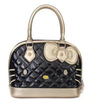 New Arrival!!2013 Fashion Cute Bow  Hello Kitty  Pu  tote bag handbag   shoulder  Free Shipping White Pink Black Model1