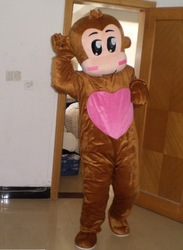 Factory Wholesale Monkey Mascot Costumes for party, festival, wedding, celebration, promotion, funny, cute, novelty, HOT SALE(China (Mainland))