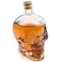 free shipping Crystal Skull Head Shape Wine Drinking Vodka Glass Bottle Decanter Novelty Fashion gift   red wine bottle 400ml