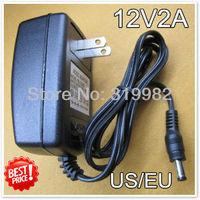 3pcs/lot, 12V2A power adapter, 12V2000mA power supply, 12V 2A AC/DC power supply adapter, AC 100-240V input voltage, Free ship