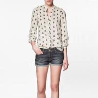 Free Shipping Women's new arrival epaulette rivet gangnam shirt