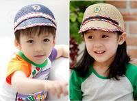Summer child strawhat discontinuing cap baby cap male female child baseball cap sun-shading hat