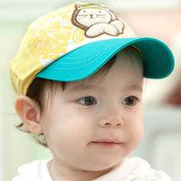 Spring and autumn kitten labeling child cap baby baseball cap baby sunbonnet
