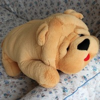 The new 2013 free shipping. Shar-pei wrinkled skin dog doll plush toy dogs lie prone to lie prone children toy gifts