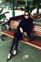 Vivi magazine the trend of fashion popular leather ankle length legging