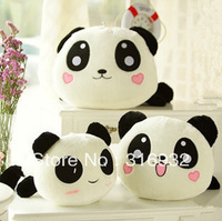 J2 New arrival, cute expressions plush panda pillow toy, 50cm, 1pc