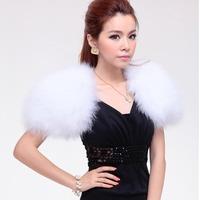 Genuine Turkey Fur Cape Small Fur Shawl Women Wedding Dress Wrap Autumn Winter Style Free Shipping