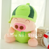 J1 Free shipping 32cm cute fruit Mcdull pig plush toy, 1pc