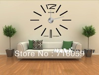 FREE SHIPPING Modern Frameless Large Wall Clock DIY clock wall stickers Interior Design  MAX3 12S003