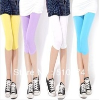 New Fashion knitting LG-014 Summer women pants Modal short trousers leggings high elastic candy colors 1PC/LOT FREE SHIPPING