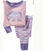 In stock Free shipping 6sets/lot baby pyjamas zebra pyjamas new pyjamas for girls pyjamas with the zebra