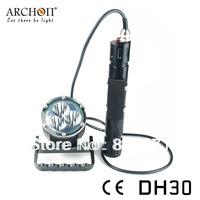 Archon DH30 3-Modes CREE XM-L U2 3pcs LED 3000 Lumens Canister Diving Flashlight (Black)Headlight