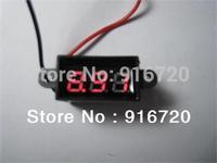 0.28' micro waterproof  DC3.50-30.0V two-wire red  led  digital voltmeter volt panel meter