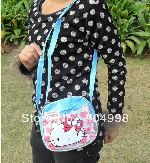 Hello Kitty messenger bag for Children PU leather 10pcs/lot No.001 Freee Shipping(China (Mainland))