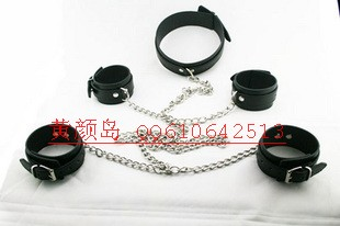 Free shipping Hfmd necklace combination chain handcuffing gyve collar supplies novelty toy(China (Mainland))