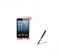 2* Anti-glare Matte Matted Anti-Fingerprint Screen Protector Film Guards +1* Stylus Pen for Apple iPad Mini Mini2 2 7.9'