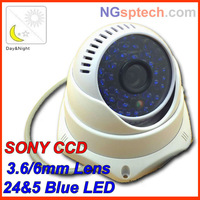 Free shipping 48Leds Night Vision IR 35 m  700tvl OSD mini cctv dome Sony CCD security camera free shipping