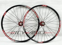EMSFree Shipping! SIMPLON SL20 4 bearing mtb bicycle wheelset 32 holes 030/red rim red spokes red hub