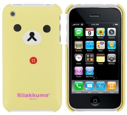 New Lovely Cute Cartoon Rilakkuma Bear Hard Back Cover Case for Apple iPhone 3G 3GS, Free Shipping(China (Mainland))