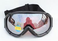 Free Shipping Double Lens Polarized Anti Fog Windproof Ski Goggles UV400 Protection Europe Snowboard Black PC Glasses Men Women