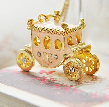 N142 Min.order is $8(mix order)Hot!! New Design Pumpkin Car Necklace fashion vintage Necklace Wholesales Free Shipping!!!