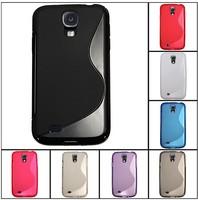 New ,Anti-skid design Galaxy S4 soft case,S Line skin TPU Case for Samsung Galaxy SIIII S4 i9500+screen film BONWES