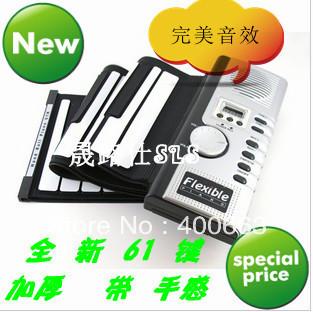 61 key hand roll piano midi keyboard portable folding soft piano outdoor piano