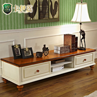 Tv cabinet solid wood american country furniture brief combination cabinet aigui storage cabinet at02d