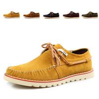 Spring Suede Casual Elevator Platform Sailing Fashion Shoes Slip-resistant Wear-resistant Skateboarding Shoes