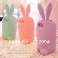 Free Shipping 10pcs/lot Lovely Rabbit Pattern Silicone Cover for iPhone 5 5g New Rabito Bon Bon Design 3D rabbit phone case