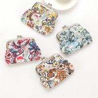 2013 freeshipping  ,womens  flower fabric zero wallet   coin purse  24pcs/lot  wholesale