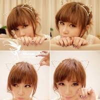 Vivi cat ears pearl diamond hair bands hair accessory