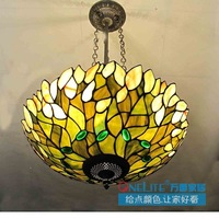 2012 hot sell Multicolour glass green tiffany lamp  dome ceiling light  D40CM