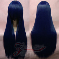 Cos wig blue black long straight hair 80cm x ss