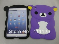 Lovely Bear Soft Rubber Silicon Case Cover For Ipad Mini 10 Colors Best Gift 10pcs/lot For Sample DHL EMS Free Shipping