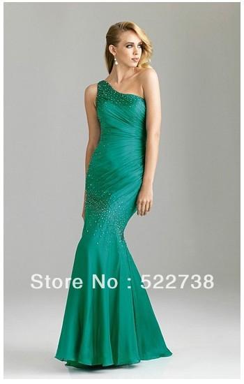 2014 entrancing blue satin flat ruffle beads working keen length cocktail green wedding dress