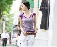 Slim all-match candy color y vest tank female y spaghetti strap vest 100% cotton