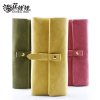 Pear doll wallet female vintage flip drawstring long design women's wallet women's wallet q187
