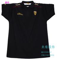 Plus size men's clothing sports t-shirt male short-sleeve 2013 shirt collar t-shirt plus size plus size fat 5xl