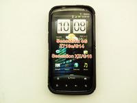 Hot sale 20pcs/lot S LINE S-line TPU rubber case cover for HTC Sensation XE Z715 Z715e G18 FREE SHIPPING