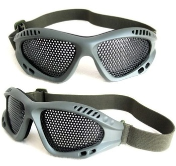Tactical Airsoft Outdoor Protective Goggles No Fog Steel Mesh Glasses