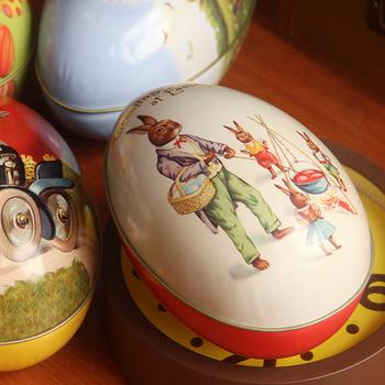 free shipping(mix order above $10) Large easter eggs gift zakka storage iron box