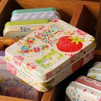 free shipping(mix order above $10) Go aesthetic 2-illust , 6 zakka tin storage box cardfile