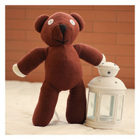 "Wholesale 100pcs/Lot 9"" Mr Bean Teddy Bear Animal Stuffed Plush Toy Brown Figure Doll Child Xmas Gift Toys Ems Free Shipping"