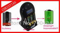 Recycle up to 30-80 times battery charger for Aa,aaa ni-mh/alkaline battery ,Make the used battery full power Free shipping.