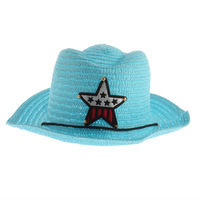 Cute Baby Kids Children Boys Girls Straw Western Cowboy Sun Hat Cap  Gift