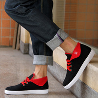 2012 tidal current male canvas shoes fashion high-top shoes hip-hop shoes skateboarding shoes breathable male shoes